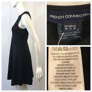 French Connection Dresses - French Connection Sleeveless Mesh V Neck Dress
